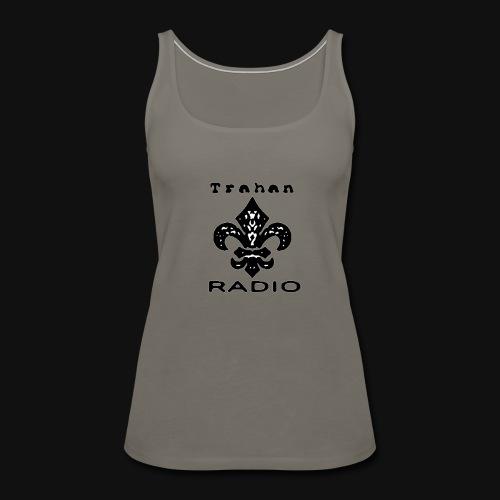 Trahan Radio Network Logo (Black) - Women's Premium Tank Top