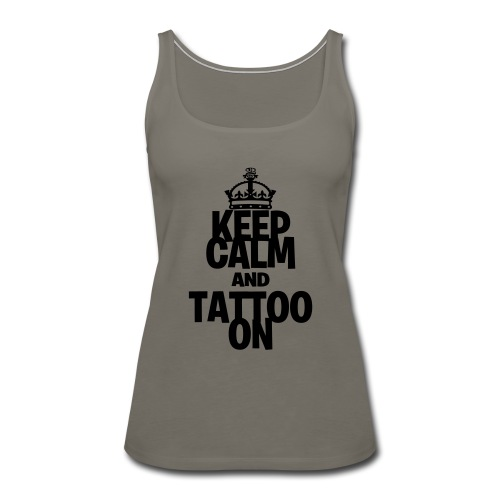 Keep Calm and Tattoo On vector - Women's Premium Tank Top