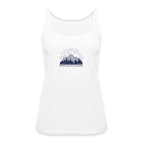Adventure Mountains T-shirts and Products - Women's Premium Tank Top