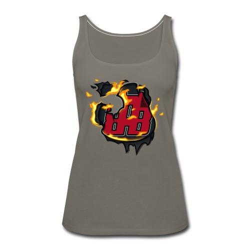 BAB Logo on FIRE! - Women's Premium Tank Top