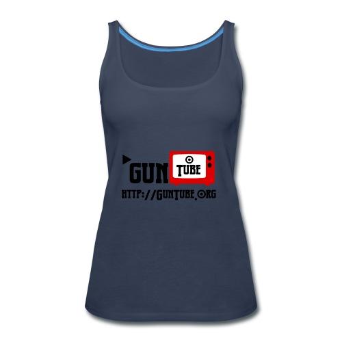 GunTube Shirt with URL - Women's Premium Tank Top