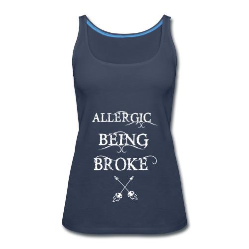 T shirt design1 png allergic - Women's Premium Tank Top