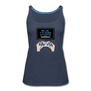 Blue Thumbs Gaming: Gamepad Logo - Women's Premium Tank Top