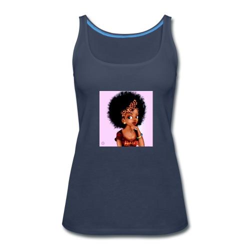 Afro Blaque Puff - Women's Premium Tank Top