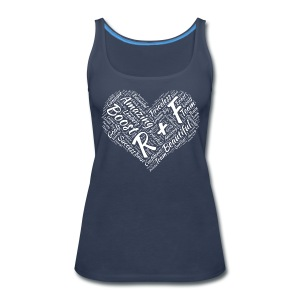 R+F White Heart - Women's Premium Tank Top