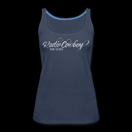 Radio Cowboy Merch - Front Design - Women's Premium Tank Top
