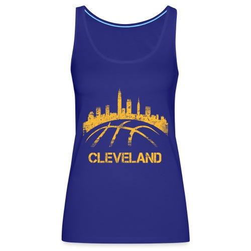 Cleveland Basketball Skyline - Women's Premium Tank Top