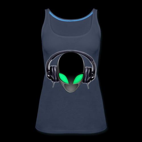 Alien Music Lover DJ (Simplified Fit All Design) - Women's Premium Tank Top