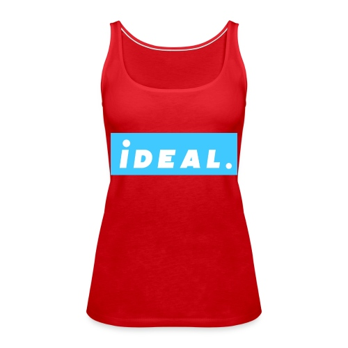 rare ideal blue logo - Women's Premium Tank Top