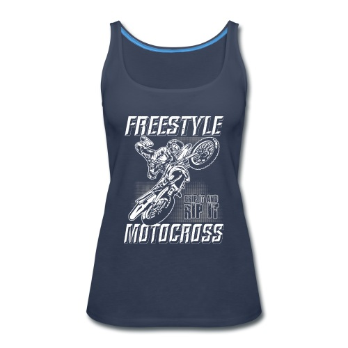Freestyle Motocross Stunt - Women's Premium Tank Top