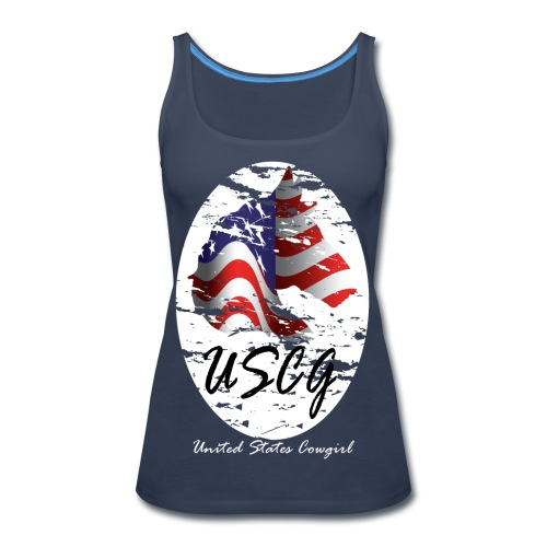 United States Cowgirl Shirts - Women's Premium Tank Top