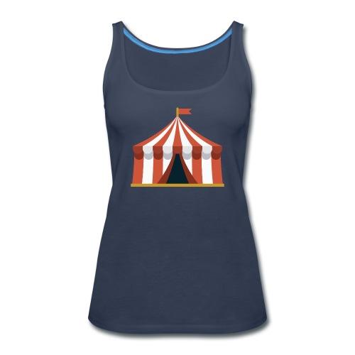 Striped Circus Tent - Women's Premium Tank Top