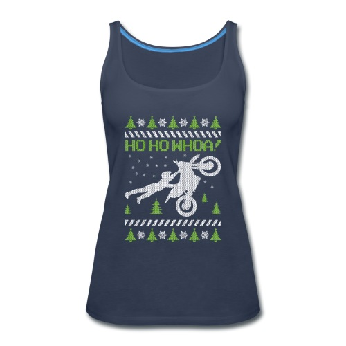 Motorcycle Ugly Christmas - Women's Premium Tank Top