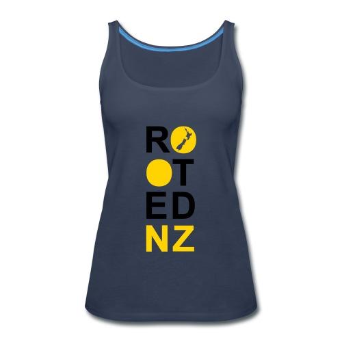 Rooted NZ Vertical mustar - Women's Premium Tank Top