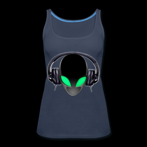 Alien Music Lover DJ (Simplified Fit All Design) - Women's Premium Tank Top