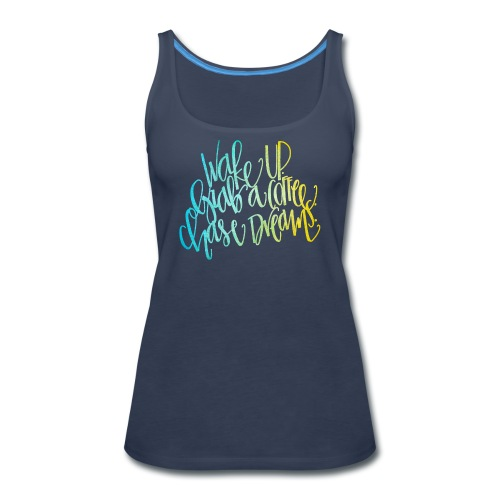 thick wake up patterned png - Women's Premium Tank Top