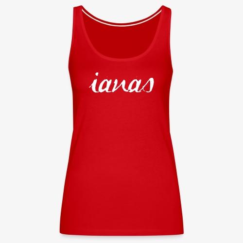 IANAS White - Women's Premium Tank Top