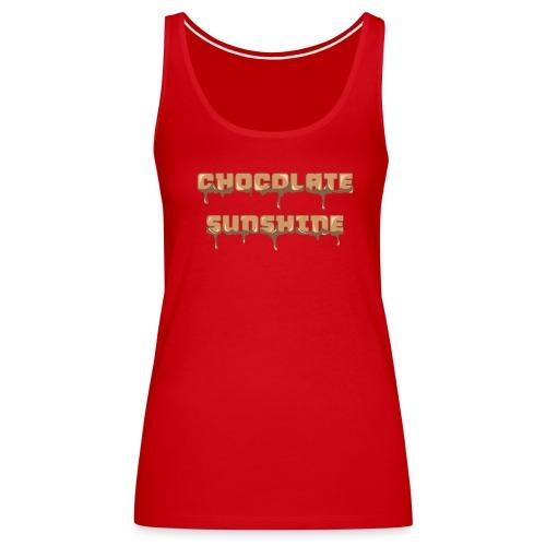 Chocolate Sunshine Horizontal Font - Women's Premium Tank Top
