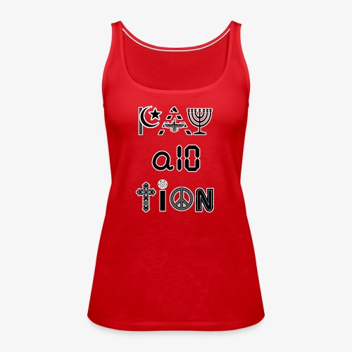 Pay Attention and Coexist - Women's Premium Tank Top