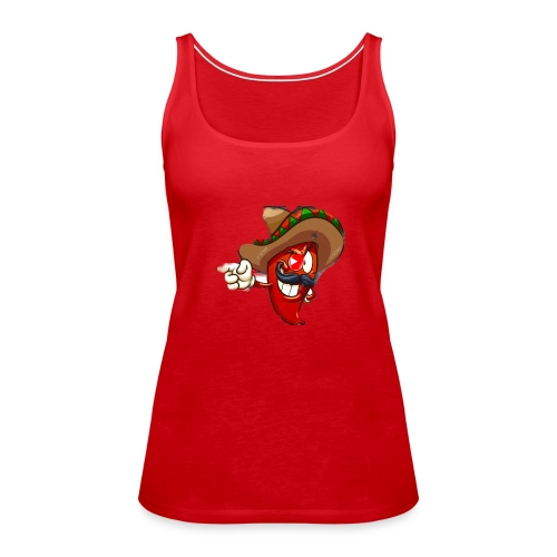 Slappy Pepper Logo - Women's Premium Tank Top