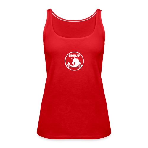 EDMSF White Logo - Women's Premium Tank Top