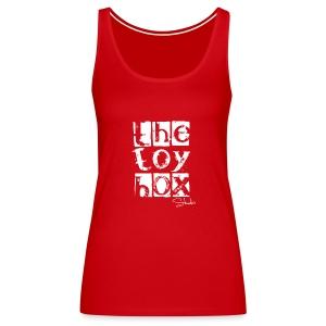 The Toy box Studio - White Logo - Women's Premium Tank Top