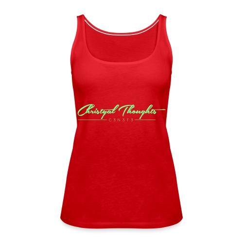 Christyal Thoughts C3N3T31 Lime png - Women's Premium Tank Top