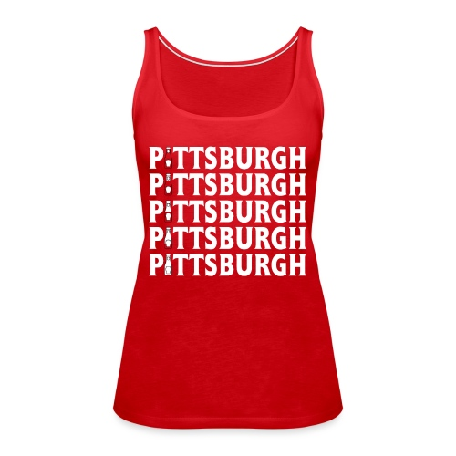 Ketch Up in PGH (Red) - Women's Premium Tank Top