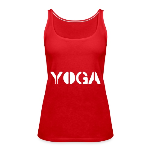 YOGA white - Women's Premium Tank Top
