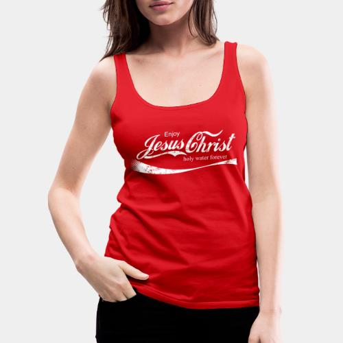 drink holy water christ - Women's Premium Tank Top