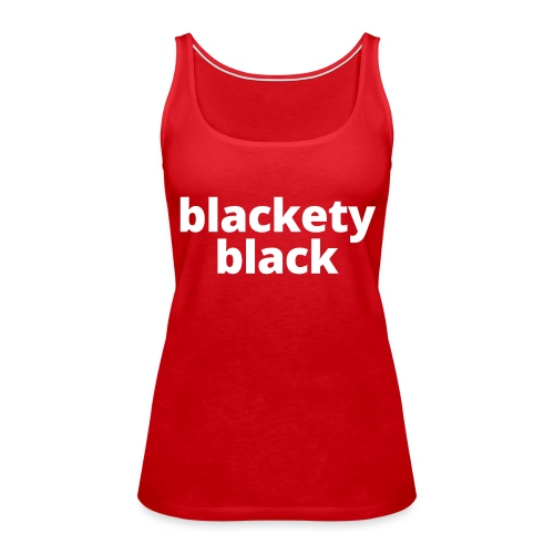 Women's Blackety Black Hoodie - Women's Premium Tank Top