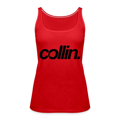 Collin. (Black w/ Rose) - Women's Premium Tank Top