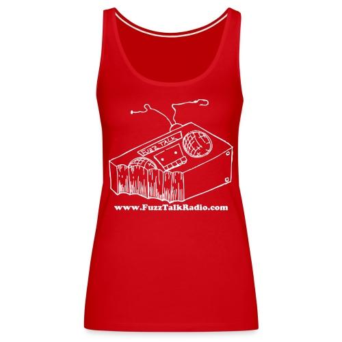 FTRLogoWhiteAddress - Women's Premium Tank Top