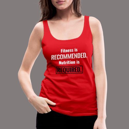 Mens_Nutrition_Black - Women's Premium Tank Top
