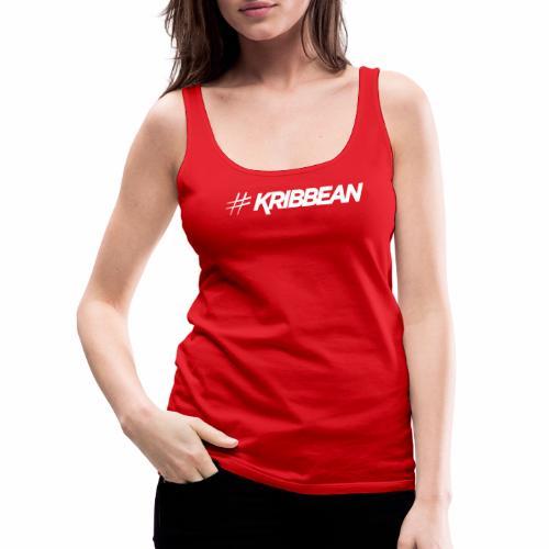 Original #KRIBBEAN White - Women's Premium Tank Top