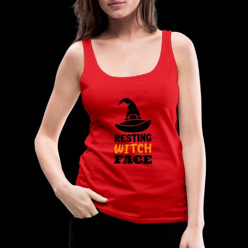 Resting Witch Face | Funny Halloween - Women's Premium Tank Top