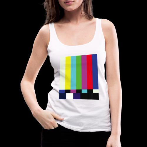 This is a TV Test | Retro Television Broadcast - Women's Premium Tank Top
