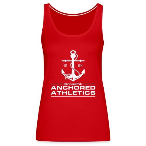 CrossFit Anchored Athletics White Vertical - Women's Premium Tank Top
