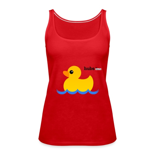 Hubs Duck - Wordmark and Water - Women's Premium Tank Top