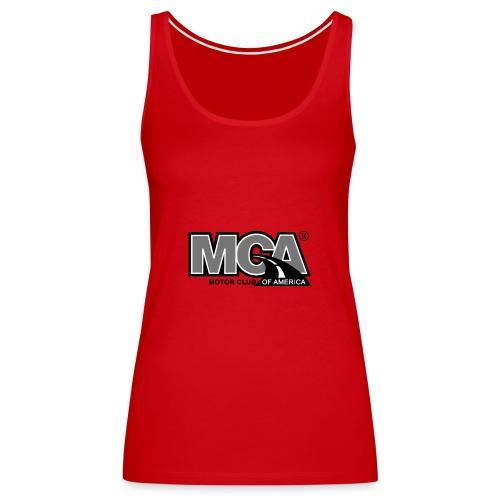 MCA Logo WBG Transparent BLACK WHITE TITLEfw fw pn - Women's Premium Tank Top