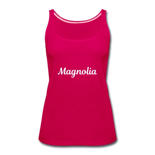 Magnolia Abstract Design. - Women's Premium Tank Top