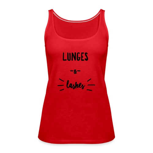 Lunges & Lashes - Women's Premium Tank Top