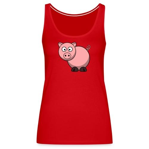 Funny Pig T-Shirt - Women's Premium Tank Top