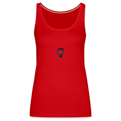 blue retro rusted grunge icon symbols shape - Women's Premium Tank Top