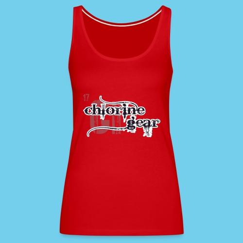 Chlorine Gear Textual Logo - Women's Premium Tank Top