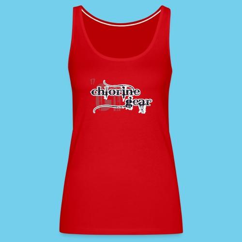 Chlorine Gear Textual B W - Women's Premium Tank Top