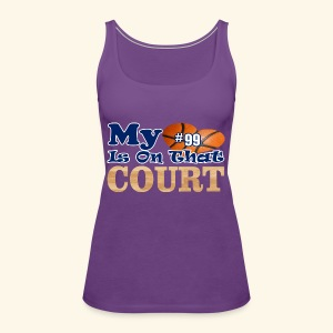 HEART IS ON COURT99 - Women's Premium Tank Top