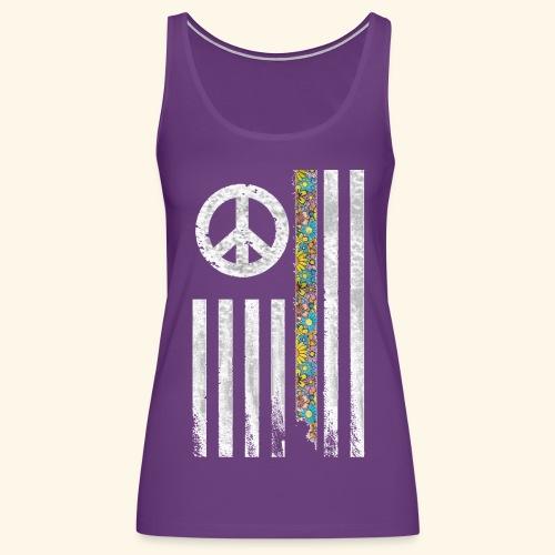 Hippie Peace Flag - Women's Premium Tank Top