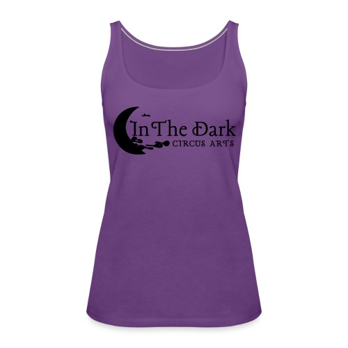 in the dark logo 2 blk - Women's Premium Tank Top