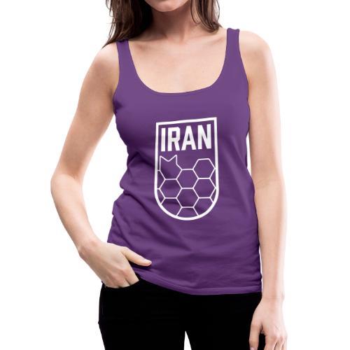 Geometric Iran Soccer Badge - Women's Premium Tank Top